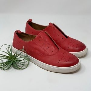 Halogen Red Leather Sneakers